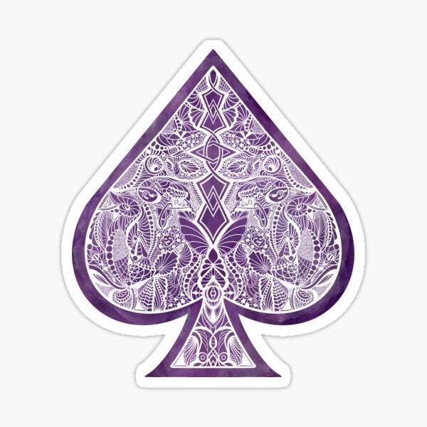 Ace Zentangle Icon Sticker