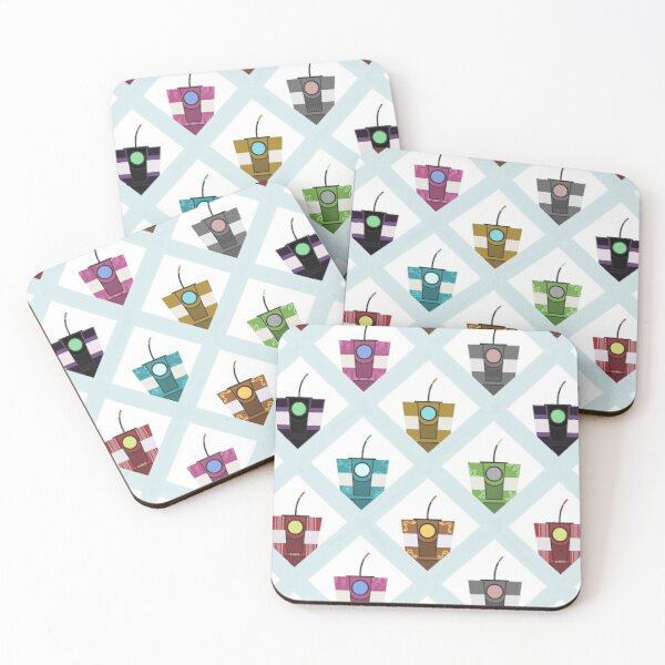 Claptrap pattern Coasters (Set of 4)