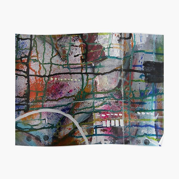 Mixed Media Abstract Designs  Poster