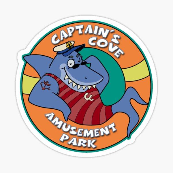 Captain's Cove Amusement Park Sticker