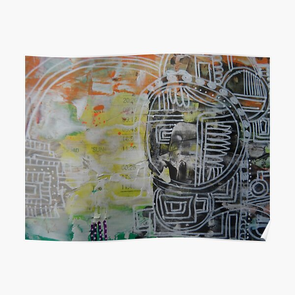Mixed Media Abstract Designs 2 Poster