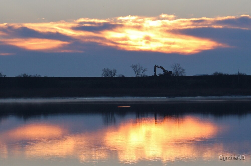 Sunrise Over The River by Cynthia48