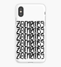 Zombies Zombies Zombies (White) iPhone Case/Skin