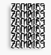 Zombies Zombies Zombies (White) Canvas Print