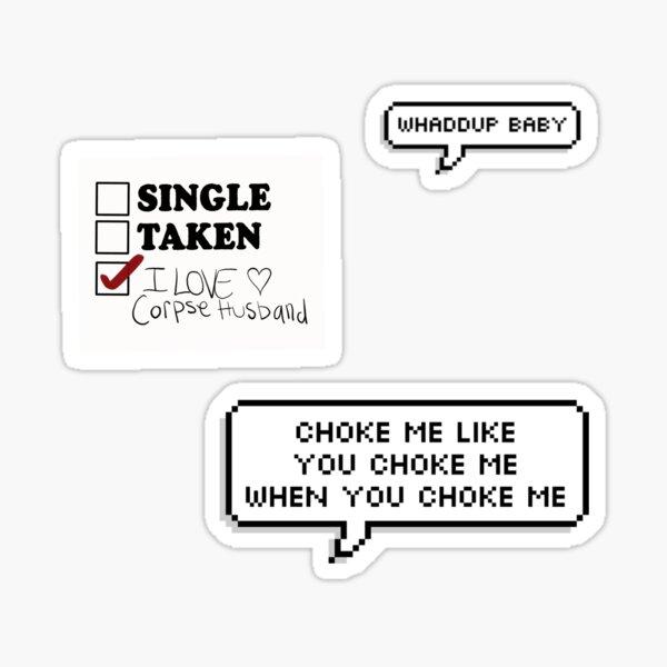 Corpse Husband Aufkleber Set Sticker