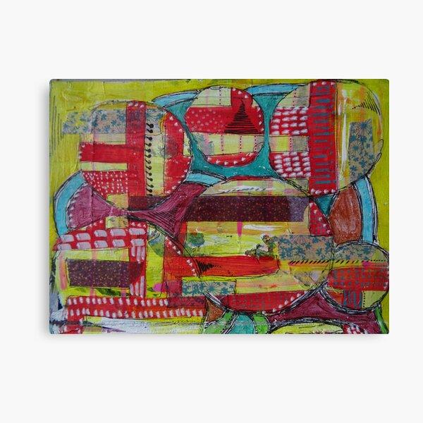 Mixed Media Abstract - Circles 2 Canvas Print