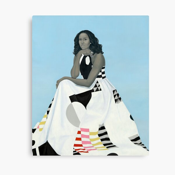 Michelle Obama Portrait for the National Gallery Canvas Print