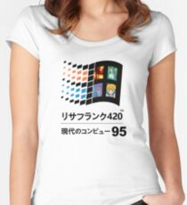 Vaporwave 95 Women's Fitted Scoop T-Shirt