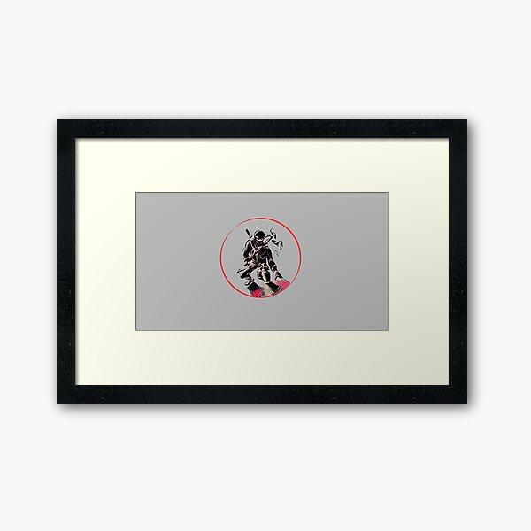Red Circle Warrior Spirit Ninja  Framed Art Print
