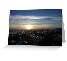 Icy Sunset Greeting Card