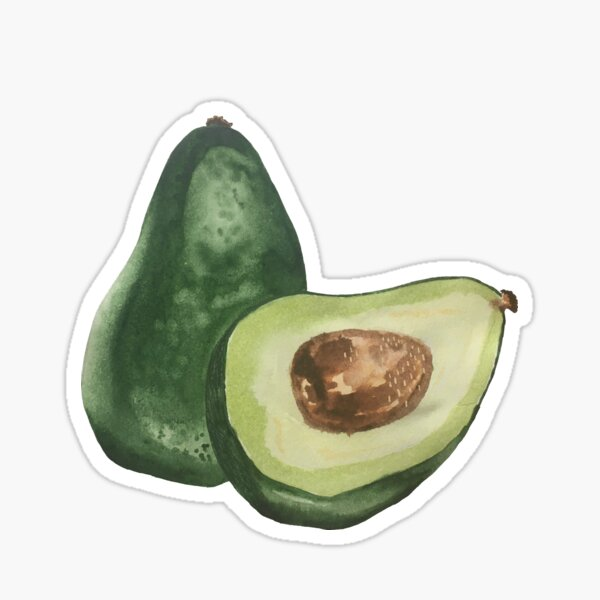 Avocados - blue Sticker