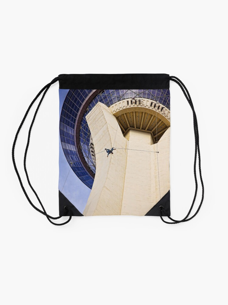 Alternate view of Stratosphere Tower Jumper Las Vegas Drawstring Bag