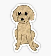 Cute Lil' Fuzzy Pup :3 Sticker