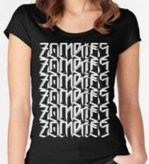 Zombies Zombies Zombies (Black) Women's Fitted Scoop T-Shirt