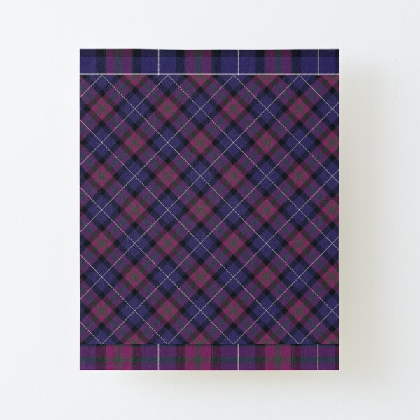 Pride of Scotland Tartan Pattern Canvas Mounted Print