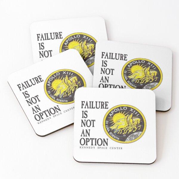 Apollo 11 - Failure is not an option Coasters (Set of 4)