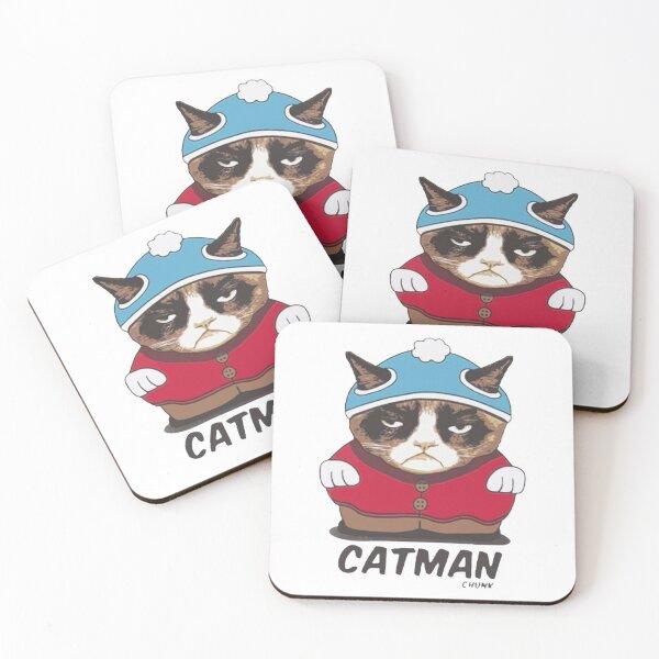 catman chunk Coasters (Set of 4)