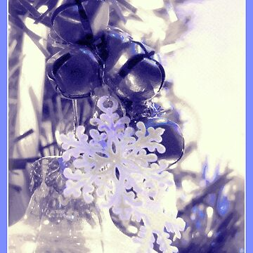 Snowflakes and Bells Ornaments (Blue Border) by treolson