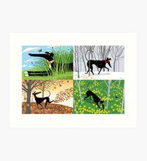Hound-Jahreszeiten Kunstdruck