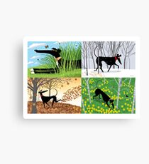 Hound Seasons Canvas Print