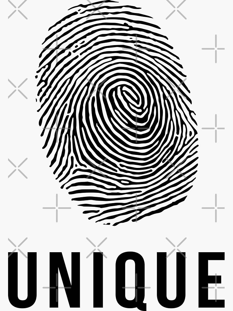 Fingerprint Unique in Black by Slobitka