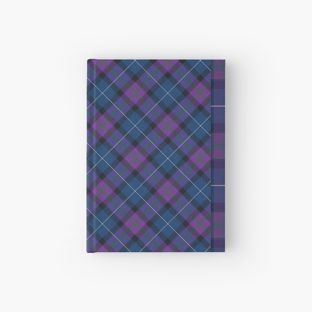 Teal & Orchid Plaid Hardcover Journal
