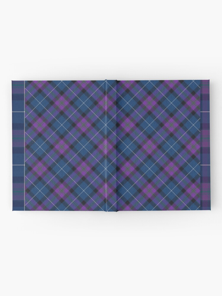 Alternate view of Teal & Orchid Plaid Hardcover Journal