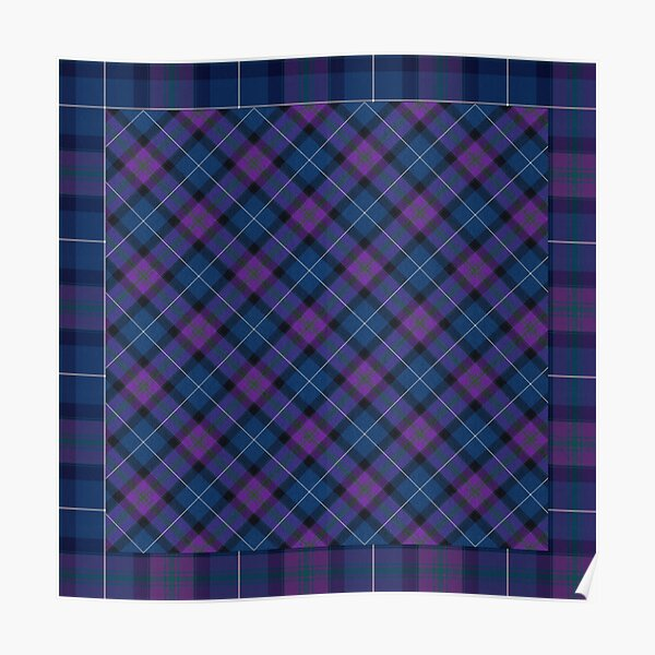 Teal & Orchid Plaid Poster