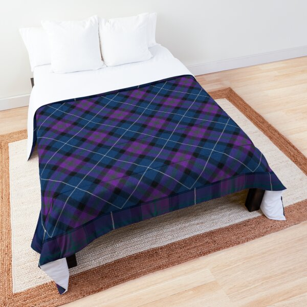 Teal & Orchid Plaid Comforter