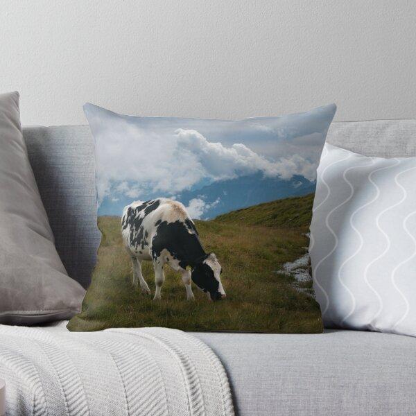 Dolomiti Cow Throw Pillow