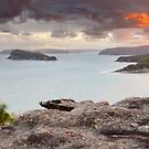 Pearl Beach from Mt Ettalong, New South Wales, Australia by Michael Boniwell
