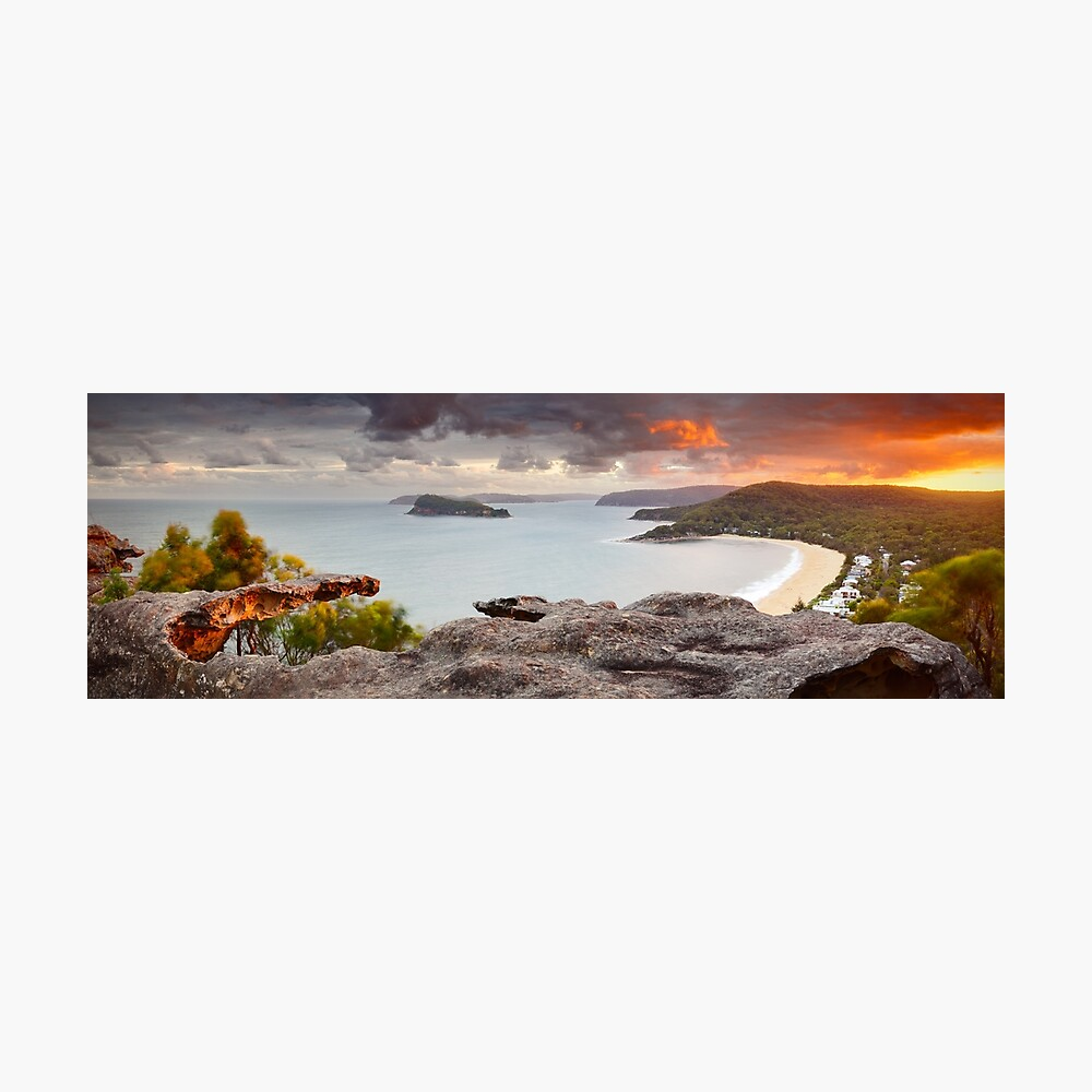 Pearl Beach from Mt Ettalong, New South Wales, Australia Photographic Print