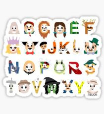 Oz-abet (an Oz Alphabet) - Landscape Sticker