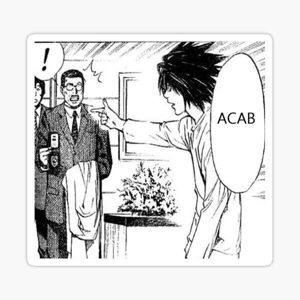 ACAB L Manga Edit Sticker