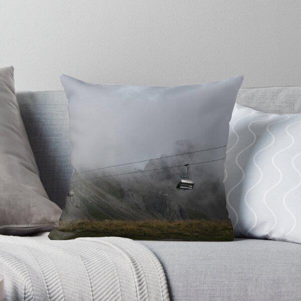 Dolomiti Cableway Throw Pillow