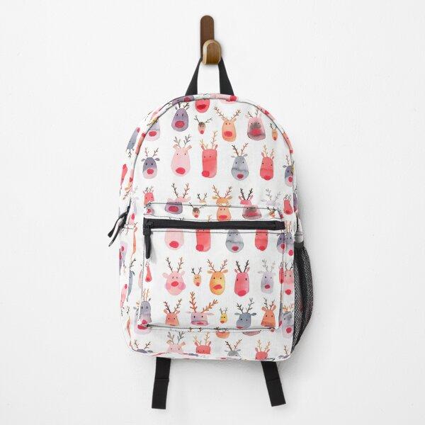Reindeers - Animal cuteness - Winter watercolor pattern - Rudolph Backpack