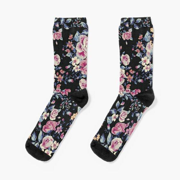 Floral Pattern Socks