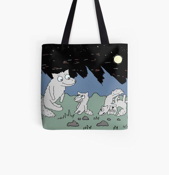 Wolfsrudel Allover-Print Tote Bag