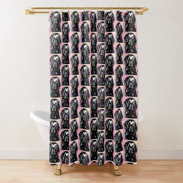 Flat Coated Retriever ~ Graphic Shower Curtain
