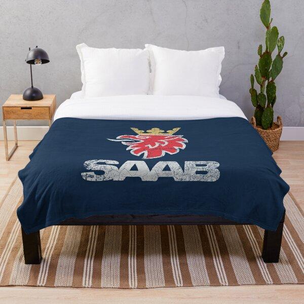 SAAB Vintage Grunge Logo Throw Blanket