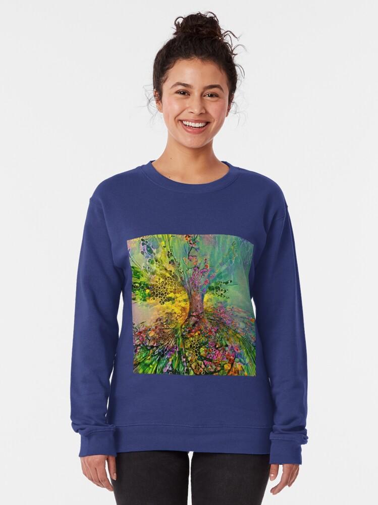 Alternate view of Deepdream abstraction Pullover Sweatshirt