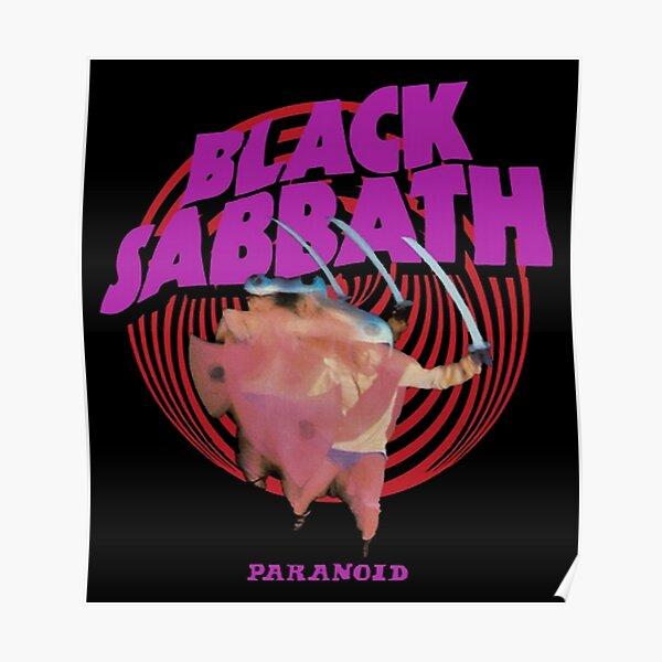 Purple Black Paranoid Poster