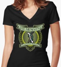 St. Mungo's Certified Healer Women's Fitted V-Neck T-Shirt