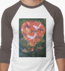 Flying Fish Fine Art Print by Heather Holland Men's Baseball ¾ T-Shirt