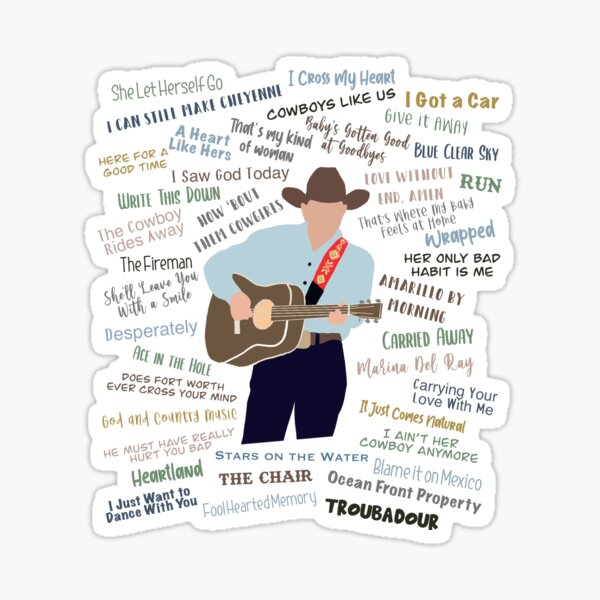 George Strait - songs  Sticker