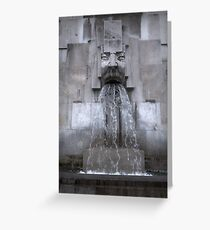 Milan Train Station Fountain Greeting Card