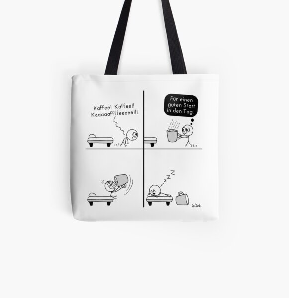 Morning coffee! All Over Print Tote Bag