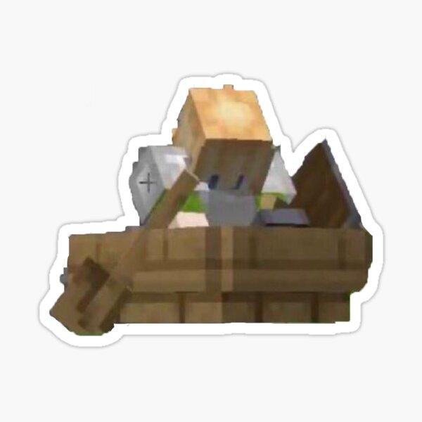 Tubbo In A Boat Dream SMP Sticker