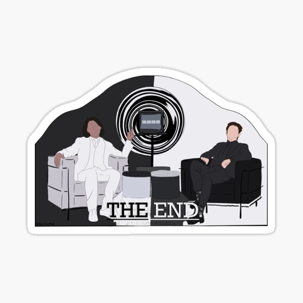 the end. (unus annus) Sticker