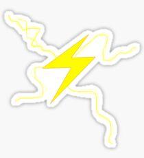 Fast Man Lightning Sticker